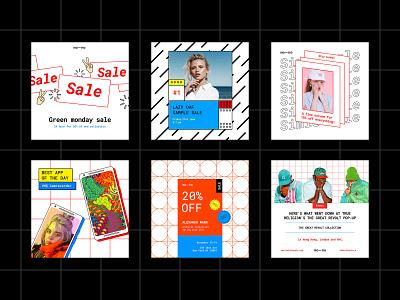 Mono Instagram Templates Kit icons pixelbuddha intagram templates template kit social media banner bloger post facebook download
