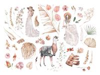 Paradise Garden Watercolor Set