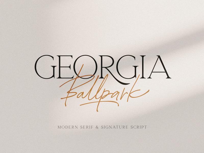 Georgia Ballpark Font Duo wedding elegant fashion handwritten typeface script signature serif modern duo font download pixelbuddha