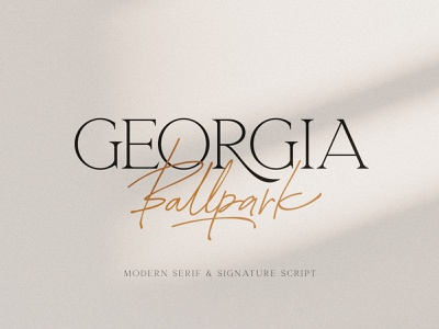 Georgia Ballpark Font Duo wedding elegant fashion handwritten typeface script signature serif modern duo font download pixelbuddha