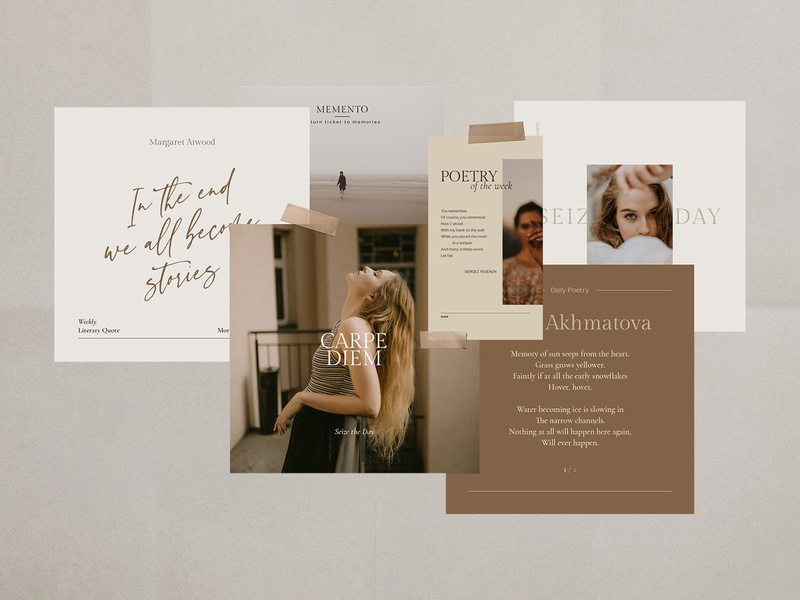 Writers Instagram Templates instagram blog post stories template psd canva photoshop quotes blog storytelling writer design text download