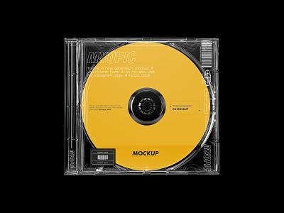Transparent CD Mockup showcase psd download dvd label music album cover case transparent mockup cd