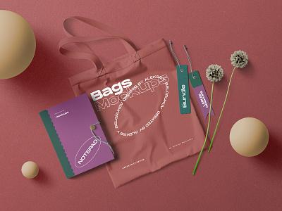 Branding Scene Creator mockup scene branding paper topview stationery showcase creator modern header leaf
