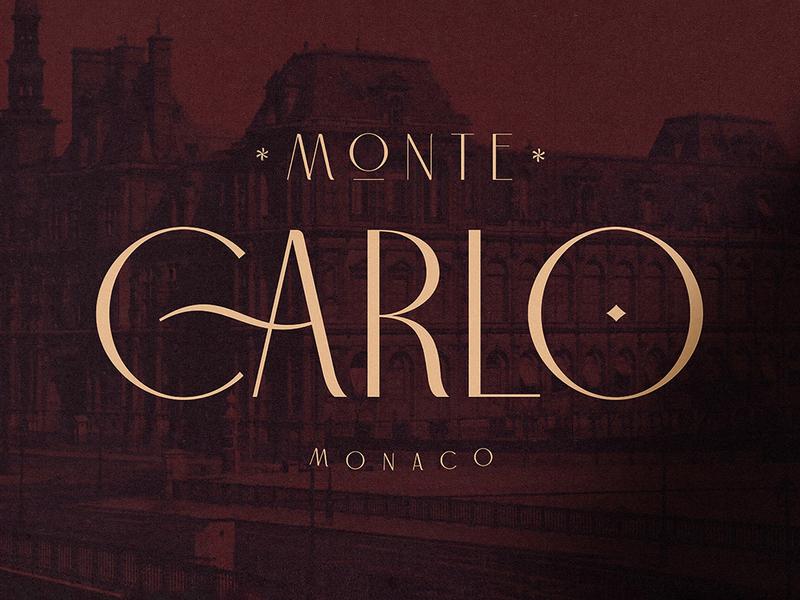 Carlo Monaco Sans Serif download gatsby font typeface retro sans serif hotel elegant modern art deco