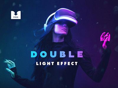 Freebie: Double Light Photoshop Effect photoshop effect light duo color double template psd free freebie download pixelbuddha