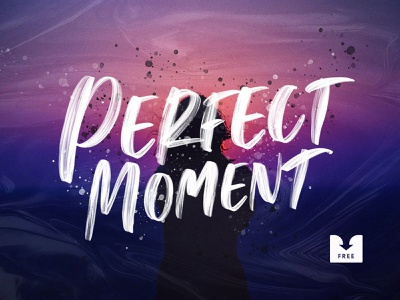 Freebie: Perfect Moment Handwritten Font rough textures brushed brush title svg typeface handwritten font download freebie free