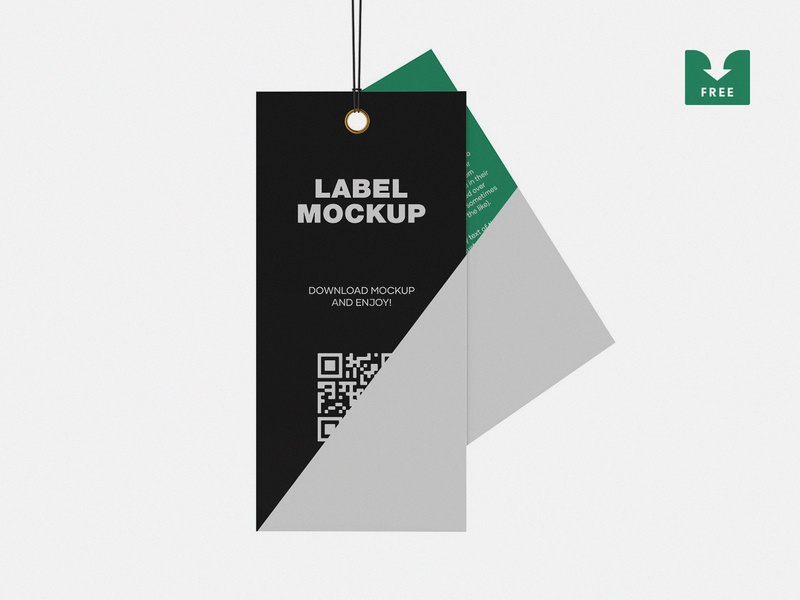 Freebie: Label Tag Mockup psd download mock-up freebie free presentation showcase branding logo mockup clothing clothes fashion tag labels label