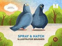 Freebie: Spray & Hatch Illustrator Brushes paint draw drawing vector ai download freebie free brushes brush illustrator hatch spray