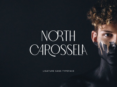 North Carossela Sans Serif branding luxury beauty wedding display title download serif sans ligature typeface font