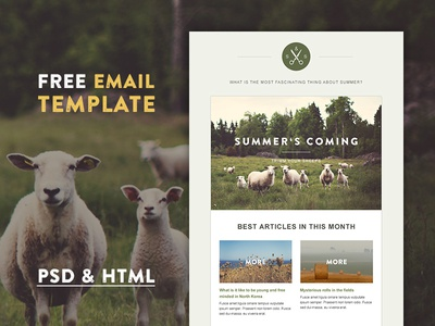 Freebie: Green Village HTML Template