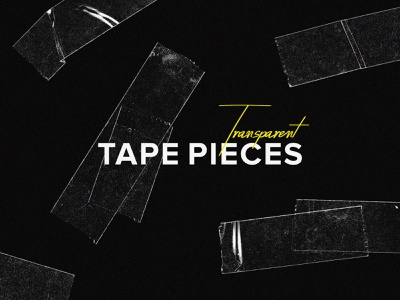 Freebie: Transparent Tape Pieces duct tape texture element design pieces tape transparent template free freebie download pixelbuddha