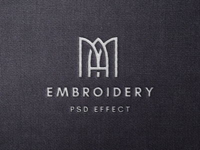 Stitching Embroidery Mockup branding cloth fabric stitching effect text showcase presentation logo embroidery template psd mockup download pixelbuddha