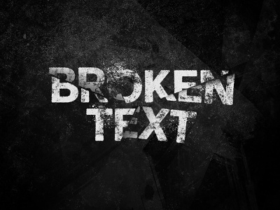 Broken Text Photoshop Effect photoshop shattered typography videogame video slashed poster movie effect text broken grunge template psd mockup download pixelbuddha
