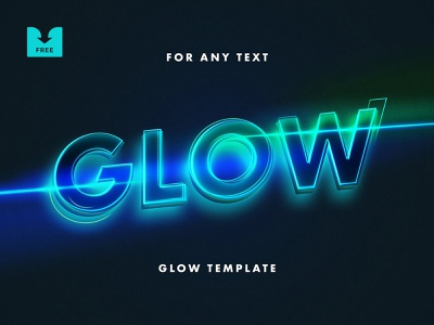 Freebie: Neon Lettering Text Effect poster movie cinema effect sci-fi text neon glow typeface template psd download free freebie
