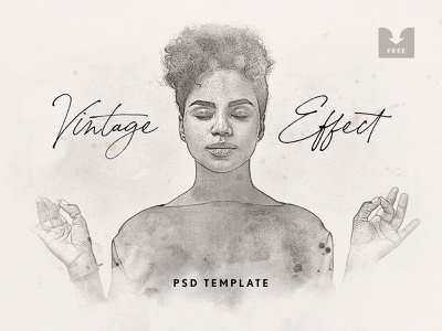 Freebie: Vintage Watercolor Photoshop Effect pixelbuddha psd