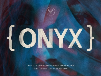 ONIX Hand-Painted SVG Font plus painted typeface svg lettering handlettering hand drawn hand font download pixelbuddha