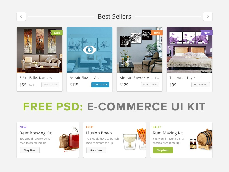 Lucky Store UI Free pixelbuddha freebie psd ui ui kit interface commerce shop