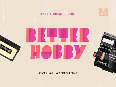 Freebie: Better Hobby Display Font cartoon bold happy kids playful fun typeface free freebie font download pixelbuddha