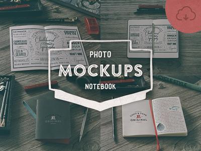 4 Hip Notebook Mock-ups