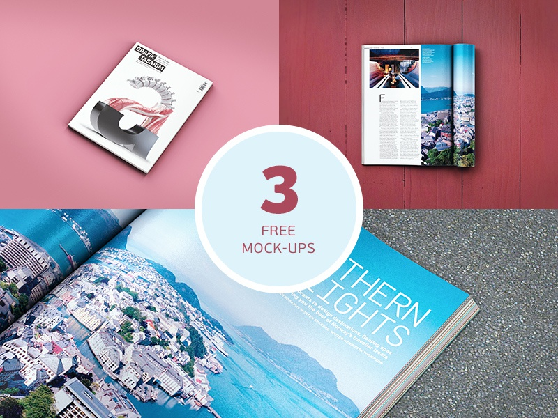 Freebie: Magazine Mockups pixelbuddha freebie free psd mockups mockup magazine