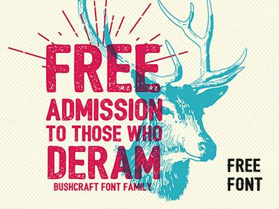 Freebie: Bushcraft Font Family pixelbuddha freebie free font fonts otf