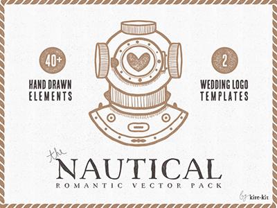 Freebie: Nautical Vector Pack Free freebie pixelbuddha hand drawn vector elements pack
