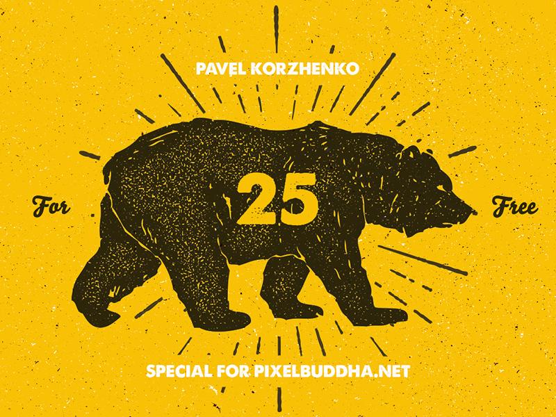 Freebie: 25 Hand-Drawn Animal Pack download elements hand draw vectors vector pixelbuddha