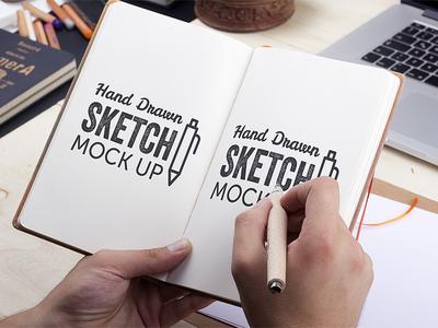 Freebie: Hand-Drawn Sketch Mock-Up 2