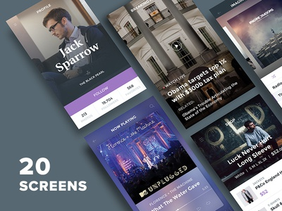 Freebie: Ghost Ship Mobile UI Kit Free