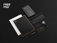 Freebie: Black + Gold Stationary Mock-Up