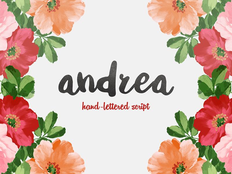 Freebie: Andrea Script script font free pixelbuddha freebie hand-drawn
