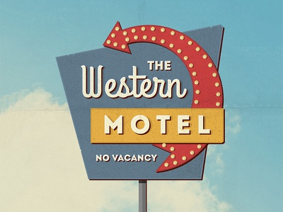 Freebie: 4 Vintage Motel Sign Mockups pixelbuddha sign motel vintage freebie mockups