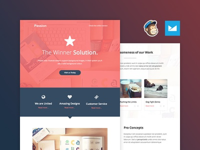 Freebie: The Passion Email Template template pixelbuddha free freebie email html