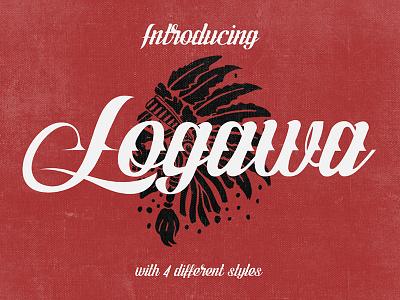 Freebie: Logawa Script typeface script font free pixelbuddha freebie