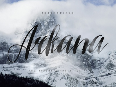 Freebie: Arkana Script Vintage Font typeface script font free pixelbuddha freebie