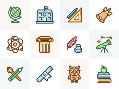 Capitalist Icon Set: Education