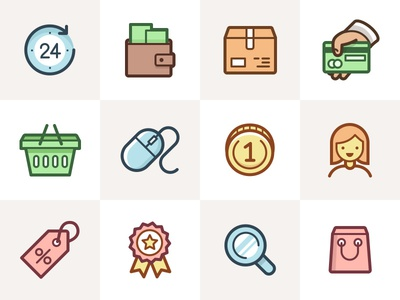 Capitalist Icon Set: eCommerce