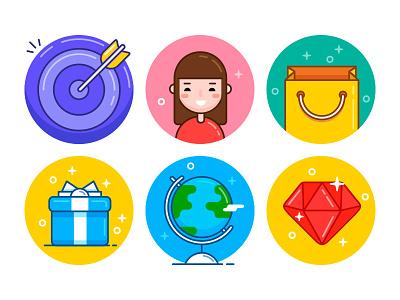 Ballicons 3 Sneak Peek colorful icon set pixelbuddha flat icons ballicons