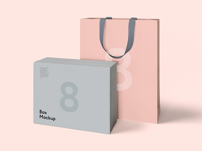 Freebie: Luxury Box & Bag Mockups
