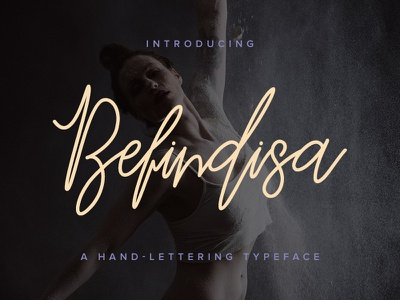 Freebie: Befindisa Script Font hand-lettering typeface script fonts pixelbuddha free freebie