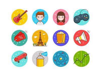 Ballicons 3 Unleashed vector set pixelbuddha illustration icons icon freebie free flat ballicons animation