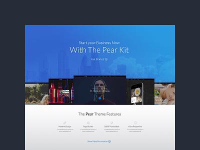 Freebie: Pear Landing Page Template landing free freebie interface template pixelbuddha ui