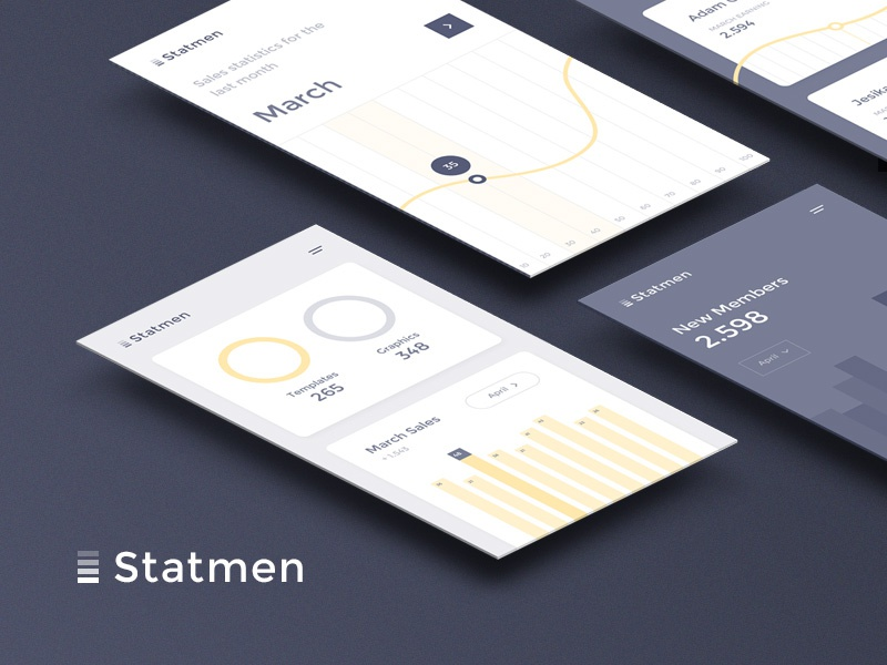 Download Freebie: Statmen Statistic iOS UI Kit