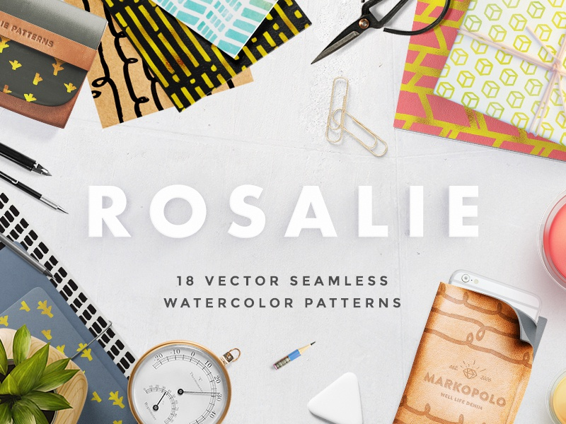 Download Freebie: Rosalie Watercolor Patterns