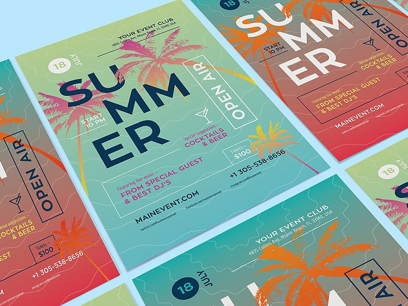 Download Freebie: Summer Poster Template