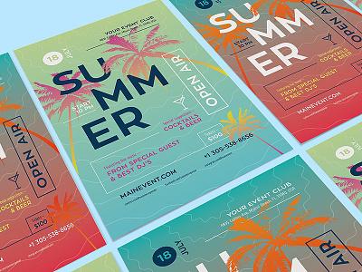 Freebie: Summer Poster Template template poster pixelbuddha freebie free flyer