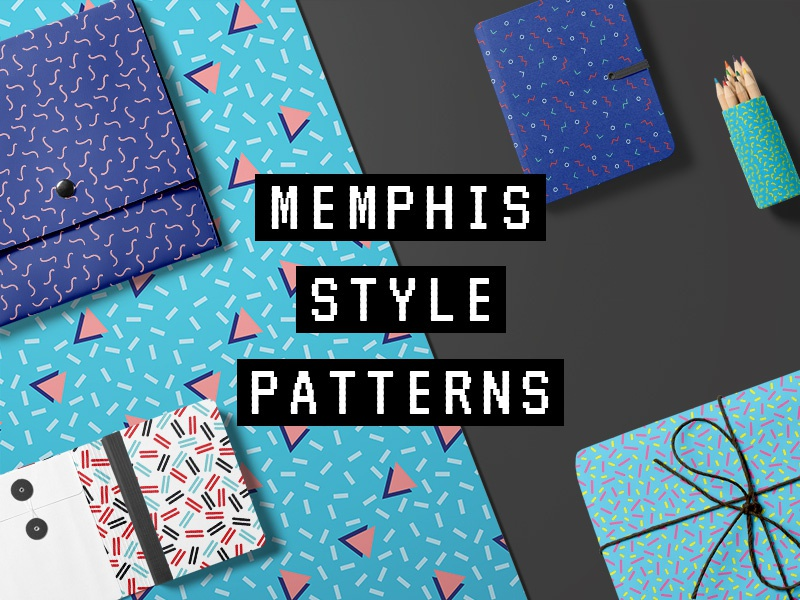 Freebie: 10 Memphis Style Patterns colors retro memphis seamless patterns pixelbuddha freebie free