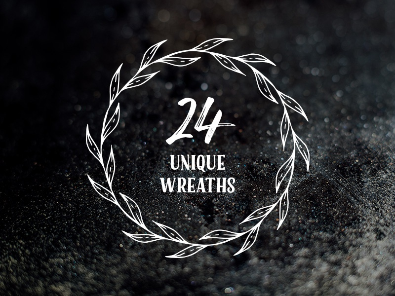 Freebie: 24 Unique Bloomy Wreaths