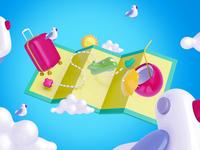 Freebie: Bright Travel Mockup Scenes
