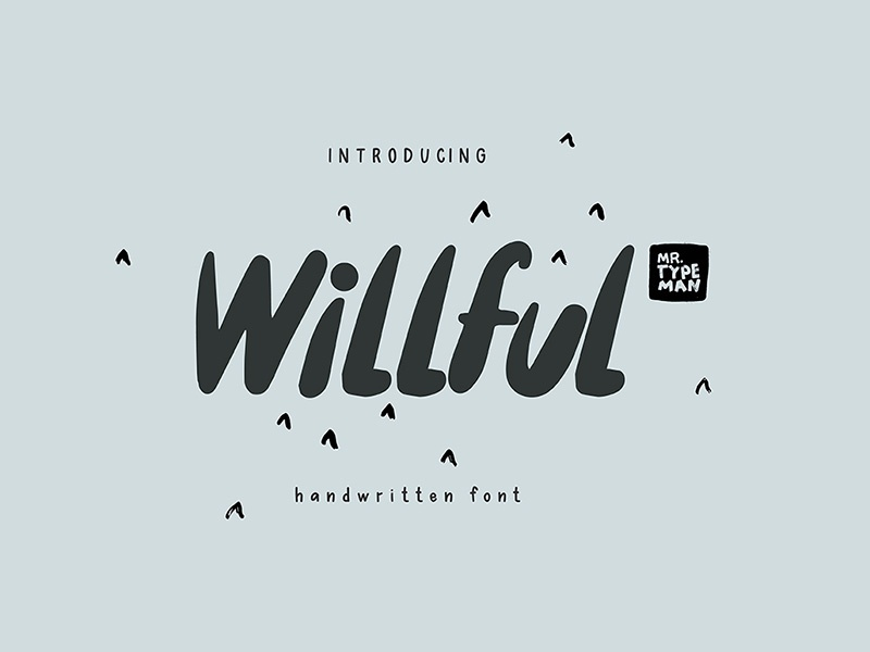 Freebie: Willful Handwritten Brush Font